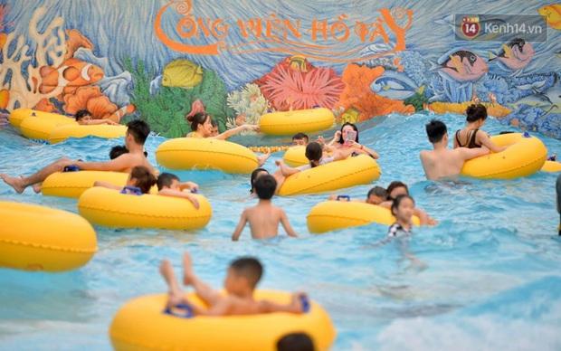 Công viên nước Hồ Tây đìu hiu ngày mở cửa trở lại - Ảnh 13.