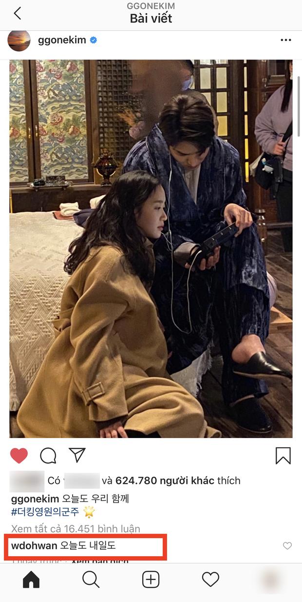 Dậy sóng Kim Go Eun tung hint đáng nghi với Lee Min Ho, trai đẹp cận vệ Woo Do Hwan bất ngờ vào hưởng ứng? - Ảnh 2.