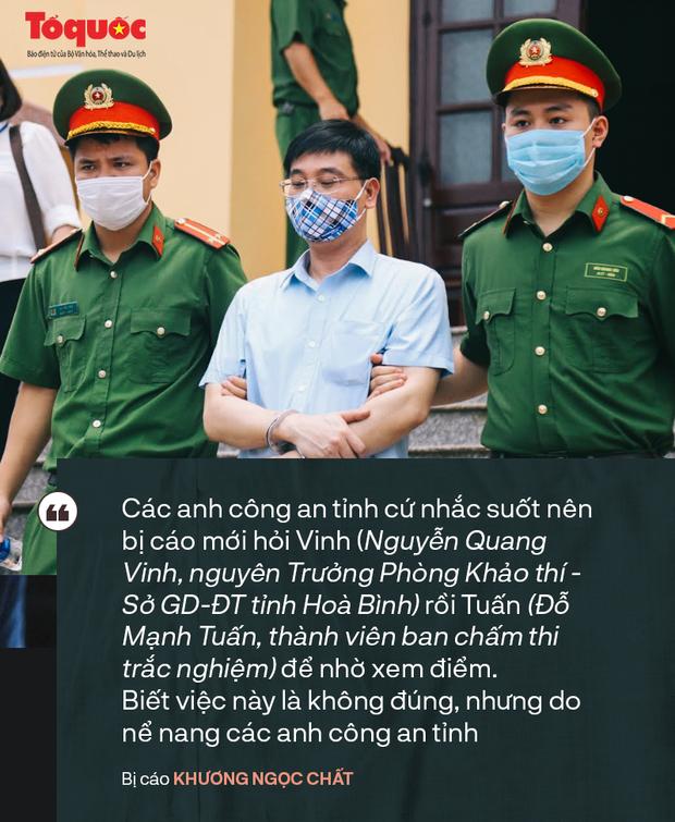 Những phát ngôn bất ngờ của các bị cáo trong vụ xét xử gian lận điểm thi ở Hoà Bình - Ảnh 3.