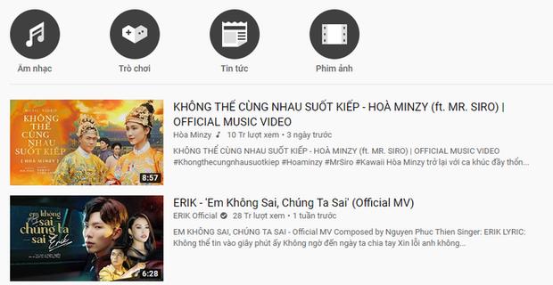 1h sáng, Erik cuối cùng đã chịu nhường top 1 trending cho Hoà Minzy làm cả ekip mất ngủ, màn comeback thành công ngoạn mục với loạt thành tích ấn tượng! - Ảnh 3.