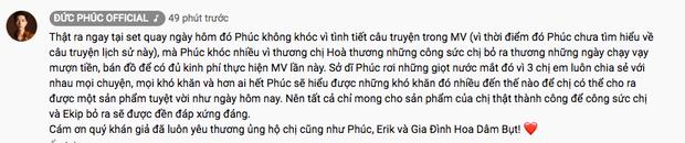 Cận cảnh Đức Phúc ngồi cạnh Kawaii Tuấn Anh như trợ lý đạo diễn cho MV của Hoà Minzy, giải thích lý do vì sao bật khóc nức nở đến như thế - Ảnh 4.
