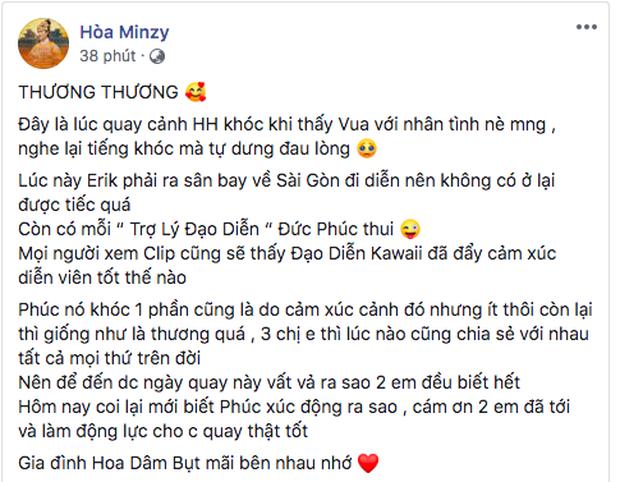 Cận cảnh Đức Phúc ngồi cạnh Kawaii Tuấn Anh như trợ lý đạo diễn cho MV của Hoà Minzy, giải thích lý do vì sao bật khóc nức nở đến như thế - Ảnh 5.