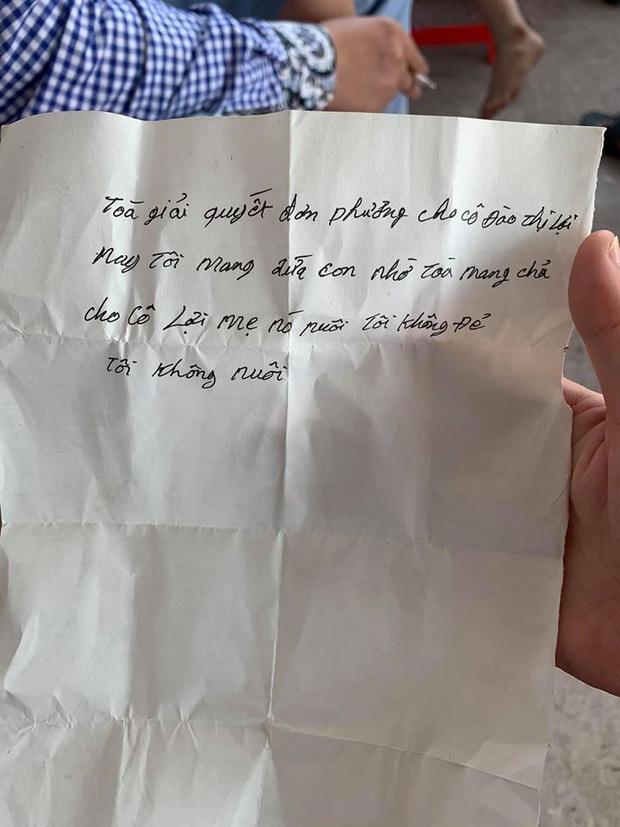 """Bé trai bị bố bỏ rơi tại toà kèm lời nhắn """"tôi không đẻ, tôi không nuôi"""" đã được về với mẹ ruột - Ảnh 3."""