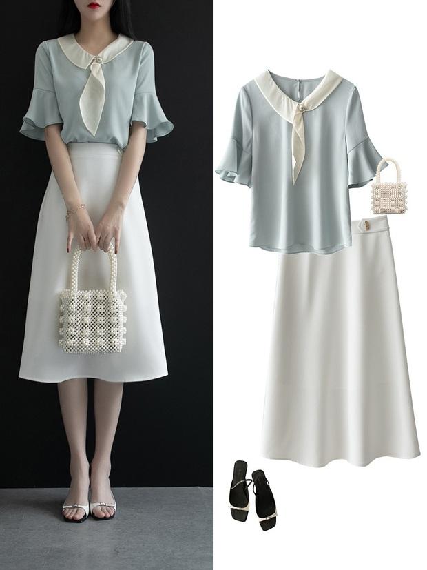 Gợi ý 12 set đồ với chân váy trắng vừa xinh lại gọn dáng hết sảy cho nàng công sở - Ảnh 1.
