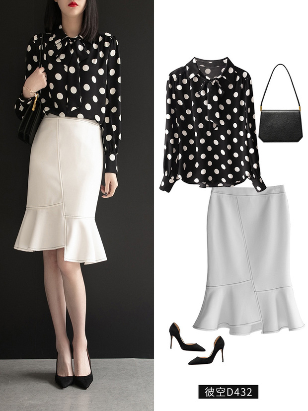 Gợi ý 12 set đồ với chân váy trắng vừa xinh lại gọn dáng hết sảy cho nàng công sở - Ảnh 12.