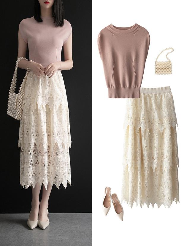 Gợi ý 12 set đồ với chân váy trắng vừa xinh lại gọn dáng hết sảy cho nàng công sở - Ảnh 4.