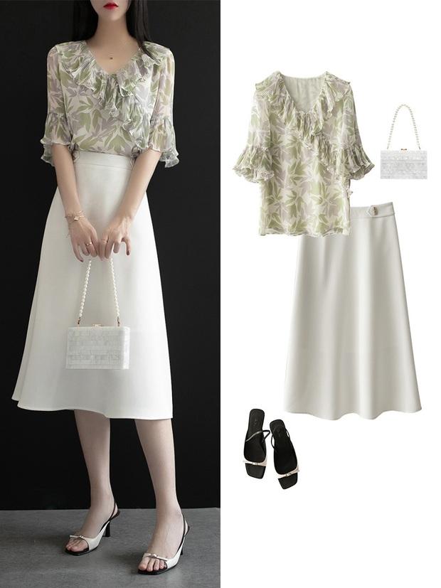 Gợi ý 12 set đồ với chân váy trắng vừa xinh lại gọn dáng hết sảy cho nàng công sở - Ảnh 7.