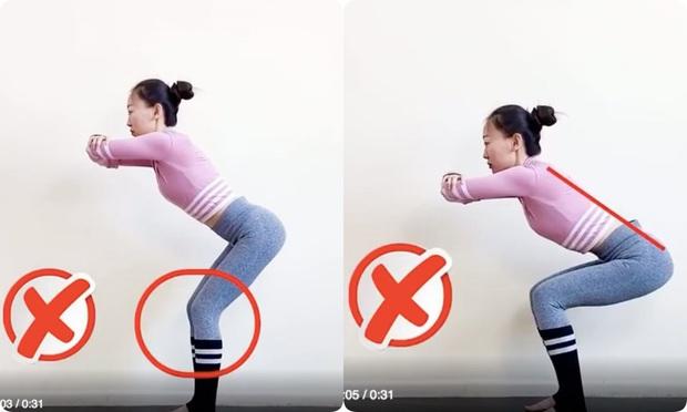 Nếu tập squat mà mông vẫn lép, đùi lại cứ to phạc thì chắc chắn chị em đã mắc phải lỗi sai cơ bản này - Ảnh 2.