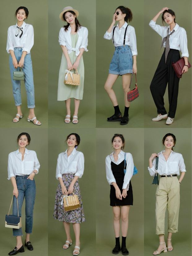 Nàng BTV cứ mỗi lần đi shopping là phải mua sơ mi trắng, mách luôn các chị em vài địa chỉ áo đẹp giá ổn - Ảnh 1.