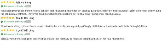 """4 sữa rửa mặt Việt Nam đúng chuẩn ngon bổ rẻ, xem xong loạt review từ người dùng thì ai cũng muốn """"múc"""" ngay một em - Ảnh 3."""