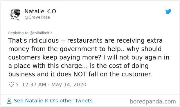"""Tranh cãi nảy lửa xoay quanh việc một nhà hàng thu """"phụ phí Covid-19"""" sau dịch: Lý do đằng sau là gì, thực khách có là người chịu thiệt? - Ảnh 16."""