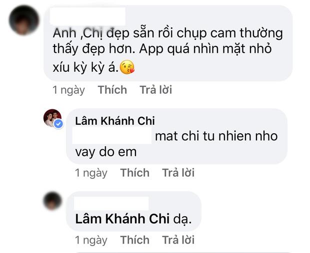 Fan khuyên Lâm Khánh Chi bớt dùng app chỉnh ảnh giả trân, cô liền tỉnh bơ: Mặt chị tự nhiên nhỏ vậy đó - Ảnh 5.