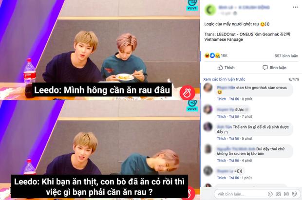 """Nam idol Kpop với logic ghét ăn rau khiến dân tình cười mệt: """"Khi bạn ăn thịt, con bò đã ăn cỏ rồi thì việc gì bạn phải ăn rau?"""" - Ảnh 2."""