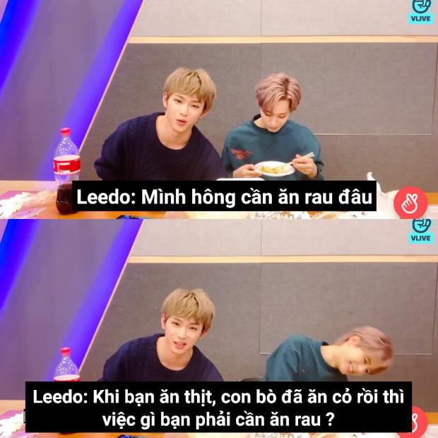 """Nam idol Kpop với logic ghét ăn rau khiến dân tình cười mệt: """"Khi bạn ăn thịt, con bò đã ăn cỏ rồi thì việc gì bạn phải ăn rau?"""" - Ảnh 1."""