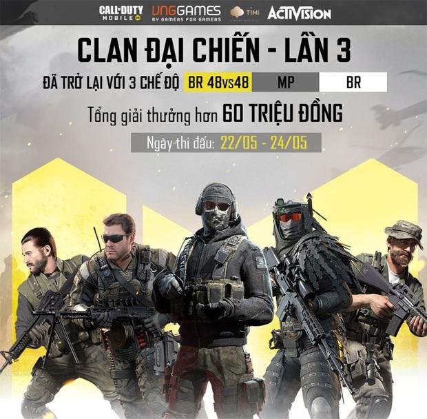 Call of Duty: Mobile VN - Clan Đại Chiến trở lại, 8 clan tranh đấu 3 ngày, tranh giải 60 triệu - Ảnh 1.