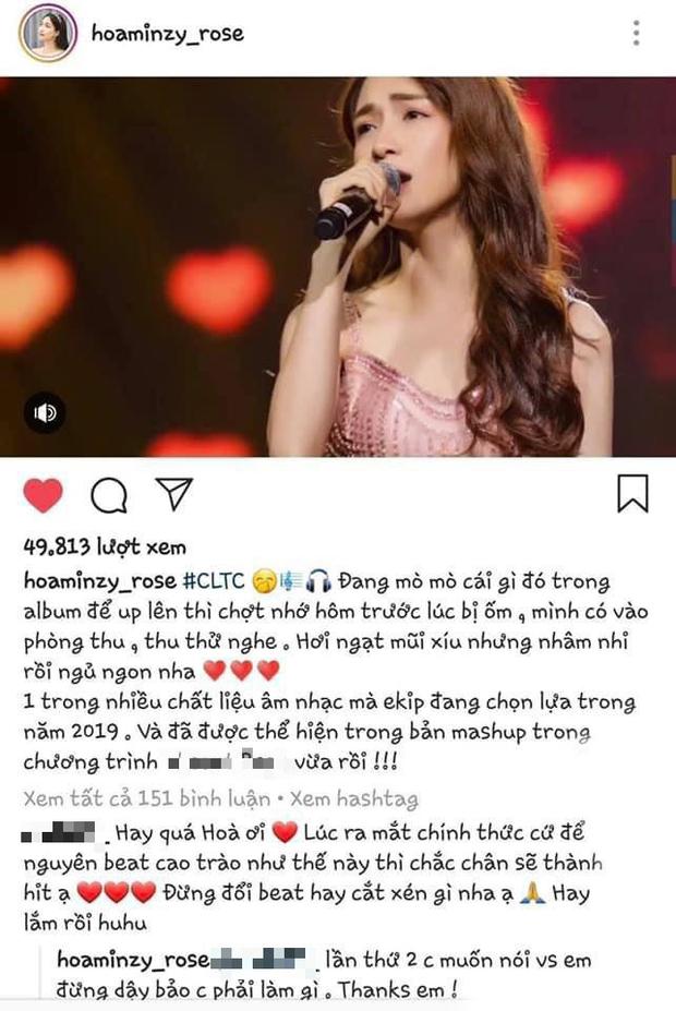 Cùng nhận ý kiến trái chiều nhưng sau 1 năm Hoà Minzy đã khác: Không còn gay gắt đừng dạy bảo chị phải làm gì mà chỉ âm thầm đăng beat tặng fan - Ảnh 3.
