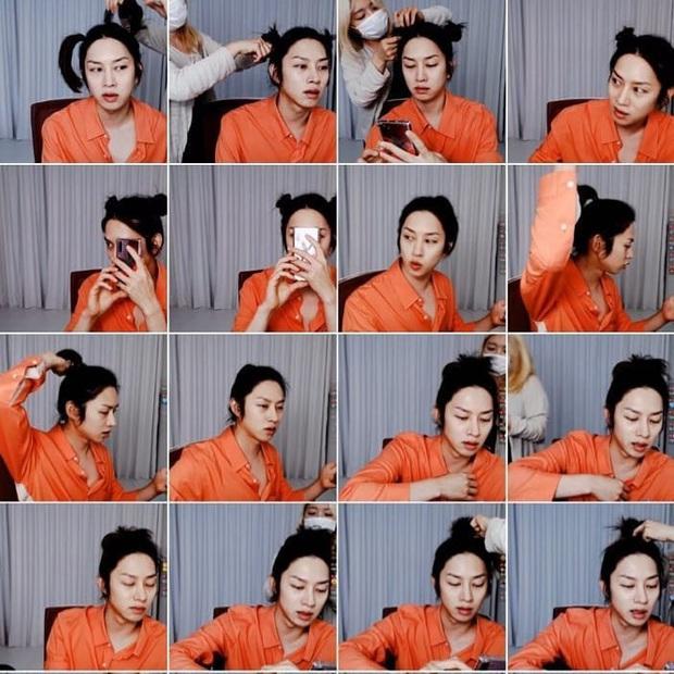 Đảm bảo khối gái xinh cũng phải hổ thẹn với skill tạo kiểu tóc của Kim Hee Chul: Đẳng cấp siêu sao vũ trũ nó phải khác! - Ảnh 1.