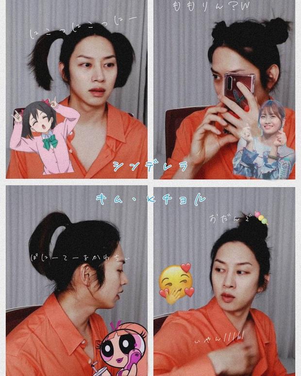 Đảm bảo khối gái xinh cũng phải hổ thẹn với skill tạo kiểu tóc của Kim Hee Chul: Đẳng cấp siêu sao vũ trũ nó phải khác! - Ảnh 4.