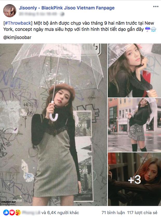 """Giữa những ngày Sài Gòn mưa như trút, fan """"đào"""" lại bộ ảnh """"thách thức mưa gió"""" của Jisoo (BLACKPINK): Kiểu gì cũng có ảnh đẹp! - Ảnh 1."""