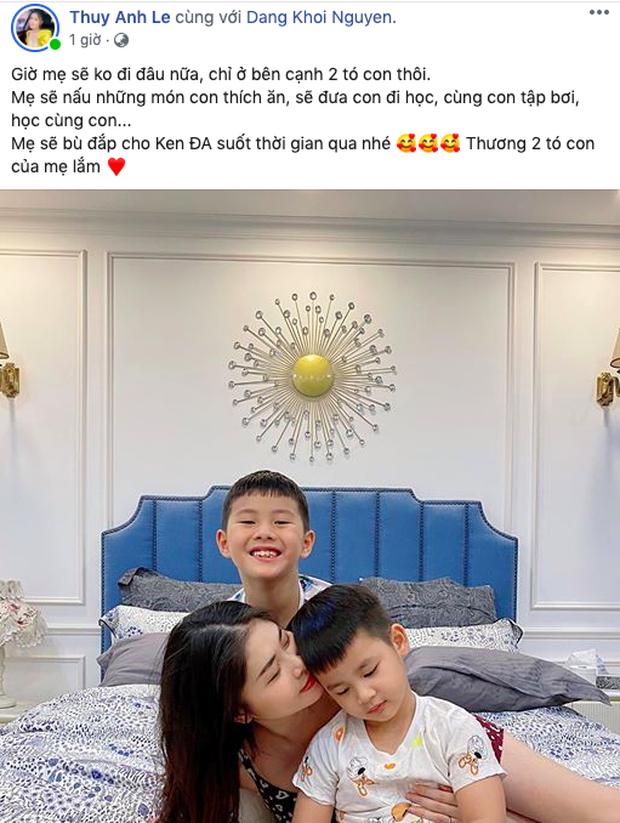 Xúc động lời nhắn bà xã Đăng Khôi gửi con hậu cách ly: Giờ mẹ sẽ không đi đâu nữa, chỉ ở bên cạnh 2 con thôi - Ảnh 2.