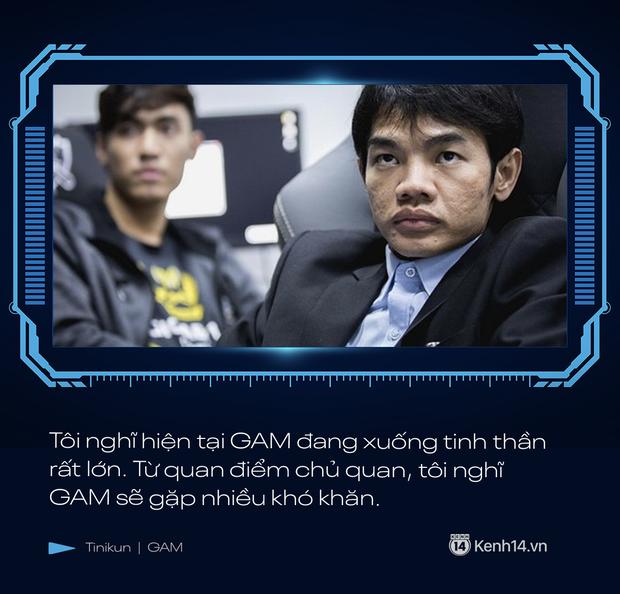Phỏng vấn độc quyền Tinikun: GAM Esports đang xuống tinh thần rất lớn, tôi nghĩ GAM sẽ gặp nhiều khó khăn - Ảnh 2.