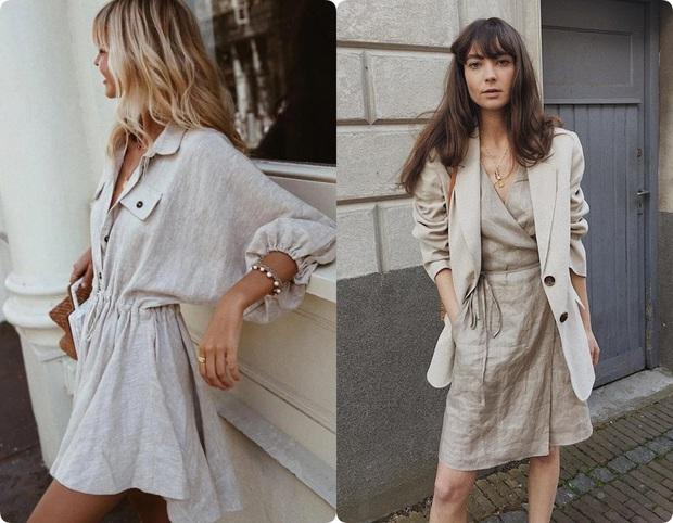 Ngoài váy lụa, phụ nữ Pháp còn mê mẩn váy áo thô đũi mộc mạc, dung dị mà phóng khoáng - Ảnh 2.