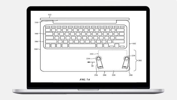 Những ý tưởng điên rồ của Apple nhằm mang tính năng cảm ứng lên MacBook - Ảnh 1.