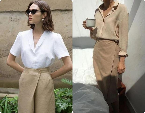 Ngoài váy lụa, phụ nữ Pháp còn mê mẩn váy áo thô đũi mộc mạc, dung dị mà phóng khoáng - Ảnh 9.