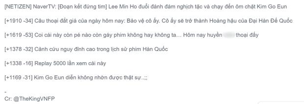 Kim Go Eun khóc ngất trong vòng tay Lee Min Ho, Quân Vương Bất Diệt cuối cùng cũng được bà con khen ngợi - Ảnh 5.