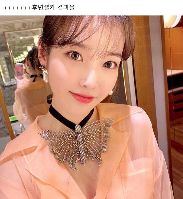 Hiếm idol nữ nào selfie mà đạt đến độ đẹp điên đảo như IU, kéo đến hình siêu zoom lồ lộ làn da và đường nét mới choáng - Ảnh 5.