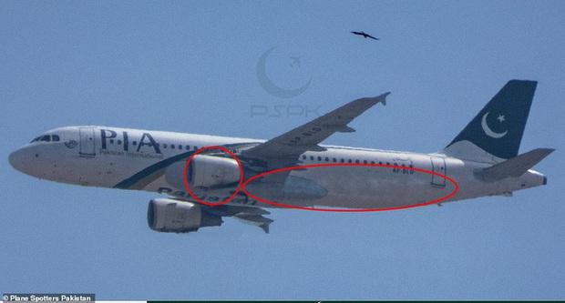 Máy bay rơi ở Pakistan: Vết cháy xém bên dưới các động cơ - Ảnh 2.