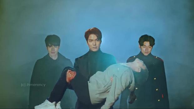 Bức hình Yêu Tinh và Thần Chết hộ tống Lee Min Ho giải cứu Kim Go Eun ở Quân Vương Bất Diệt là ảnh chế hot nhất hiện nay! - Ảnh 1.
