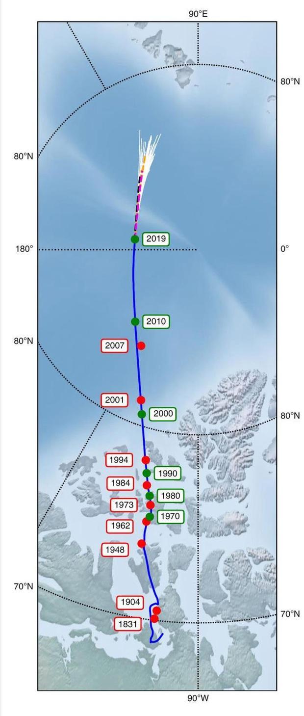 Những thay đổi lớn đang diễn ra bên trong lòng Trái Đất khiến cực từ phía bắc di chuyển dần về phía Siberia - Ảnh 2.