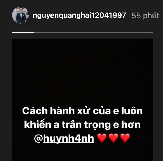 Quang Hải nhắn nhủ Huỳnh Anh lúc nửa đêm: Cách hành xử của em luôn khiến anh trân trọng em hơn - Ảnh 1.