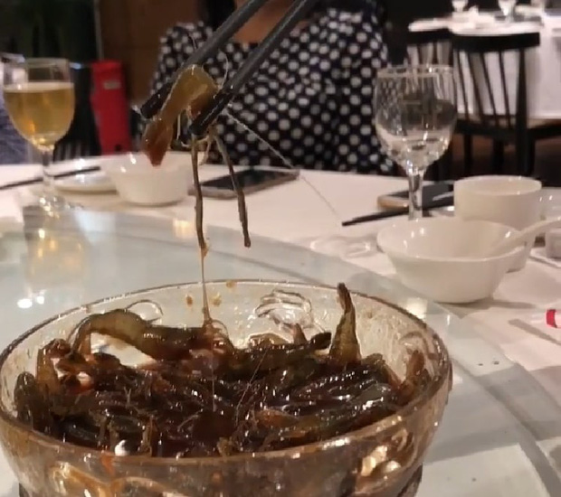 """Chàng trai """"đứng hình"""" khi thấy nhà hàng mang ra cả phần tôm sống cho mình thưởng thức, hỏi ra mới biết đây là đặc sản nức tiếng ở Trung Quốc - Ảnh 1."""