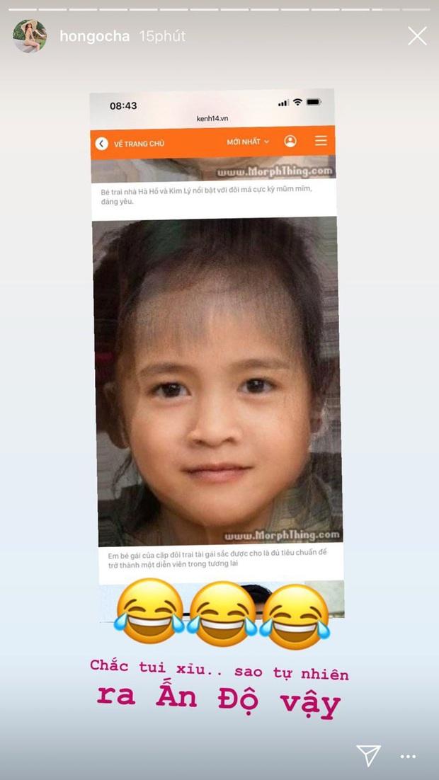 Phản ứng đặc biệt của Hà Hồ và Kim Lý khi nhìn thấy ảnh dự đoán khuôn mặt nhóc tỳ: Thế này có gọi là thừa nhận chưa ta? - Ảnh 3.
