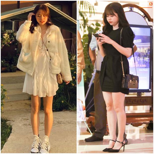 Bạn gái Quang Hải cũng không thoát khỏi cán cân ảnh trên mạng - ngoài đời: Bạn thích bên nào hơn? - Ảnh 3.