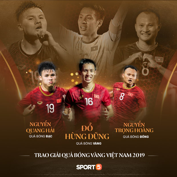 Vượt qua đàn em Quang Hải, Hùng Dũng giành Quả Bóng Vàng Việt Nam 2019 - Ảnh 2.