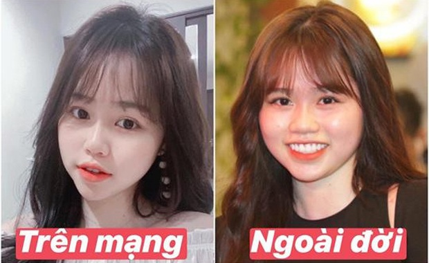 Bạn gái Quang Hải cũng không thoát khỏi cán cân ảnh trên mạng - ngoài đời: Bạn thích bên nào hơn? - Ảnh 1.