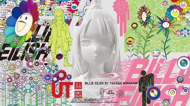 Đâu chỉ càn quét các BXH âm nhạc, Billie Eilish tiếp tục tạo nên cơn sốt với BST UT kết hợp đặc biệt cùng UNIQLO và Takashi Murakami - Ảnh 2.