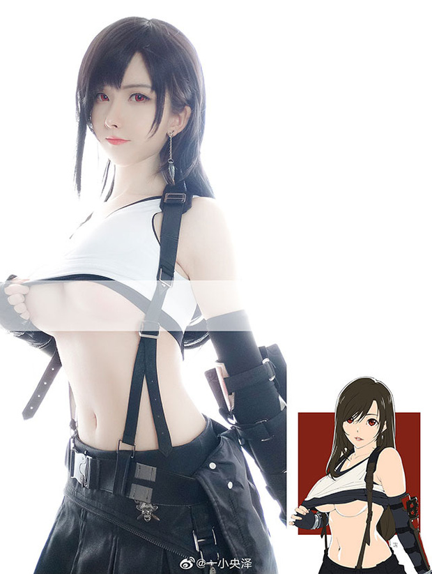 Nóng mắt với bộ ảnh cosplay Tifa ngực còn... to hơn bản gốc - Ảnh 11.