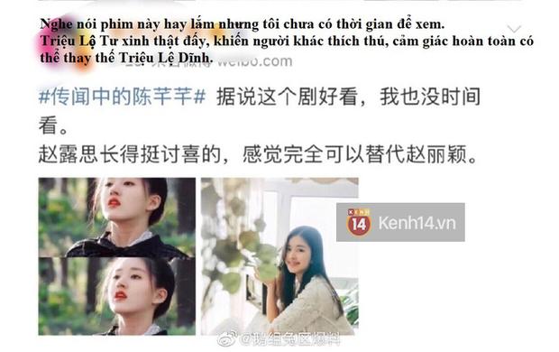 Blogger xứ Trung dự đoán Tiểu Song Hye Kyo sẽ soán ngôi Triệu Lệ Dĩnh, netizen hậm hực: Ngừng so sánh đi! - Ảnh 1.