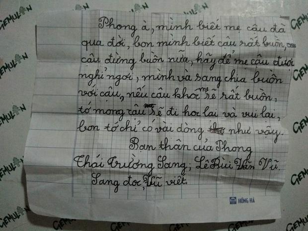 Bức thư 2 cậu bé 8 tuổi gửi cho thằng bạn thân có mẹ qua đời gây bão mạng: Trẻ con hồn nhiên nhưng tình cảm và chân thật lắm - Ảnh 1.