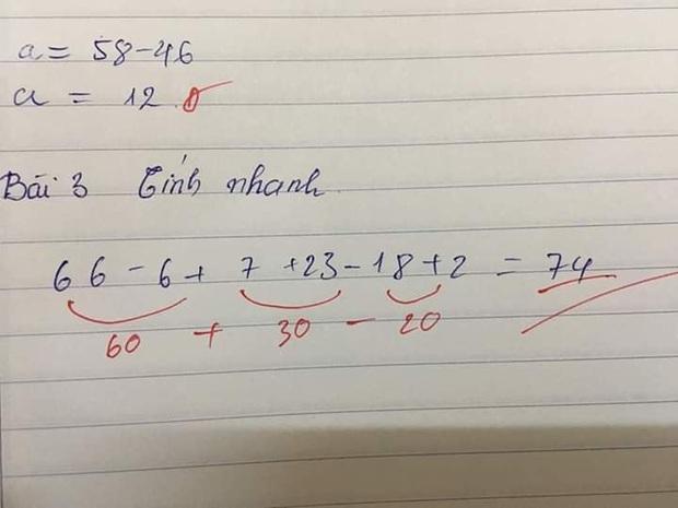 Chỉ yêu cầu cộng trừ Toán Tiểu học đơn giản, cô giáo sửa bài nhưng lại mắc lỗi người lớn nào cũng dễ dính phải - Ảnh 1.