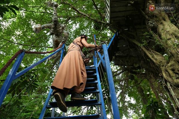 Ngay Hà Nội có một căn nhà cheo leo trên đỉnh ngọn cây của người họa sĩ 61 tuổi: Gần 20 năm trồng và đợi cây lớn - Ảnh 3.