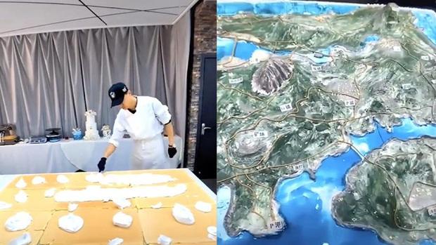 Mê nấu ăn nhưng cũng nghiện PUBG, game thủ tái hiện bản đồ Erangel ngay trên chiếc bánh kem khổng lồ - Ảnh 1.