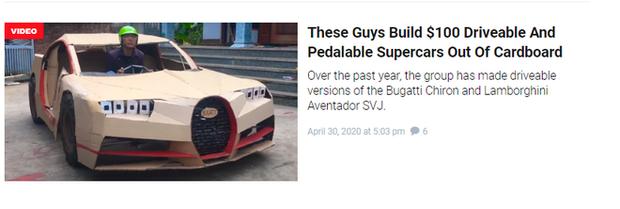 YouTuber Việt làm siêu xe Ferrari, Bugatti từ giấy chỉ với vài triệu đồng: Dân mạng quốc tế tha hồ khen nổ mũi - Ảnh 2.