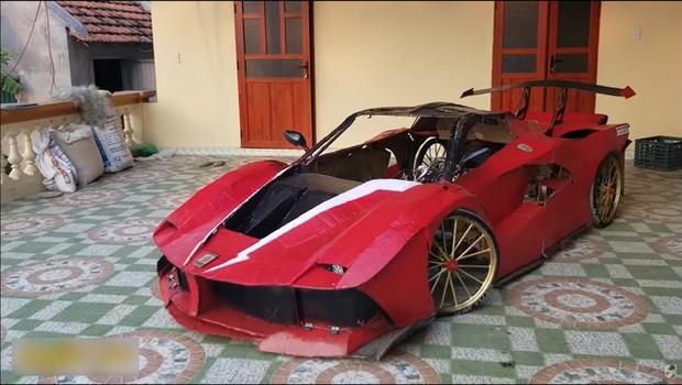 YouTuber Việt làm siêu xe Ferrari, Bugatti từ giấy chỉ với vài triệu đồng: Dân mạng quốc tế tha hồ khen nổ mũi - Ảnh 5.