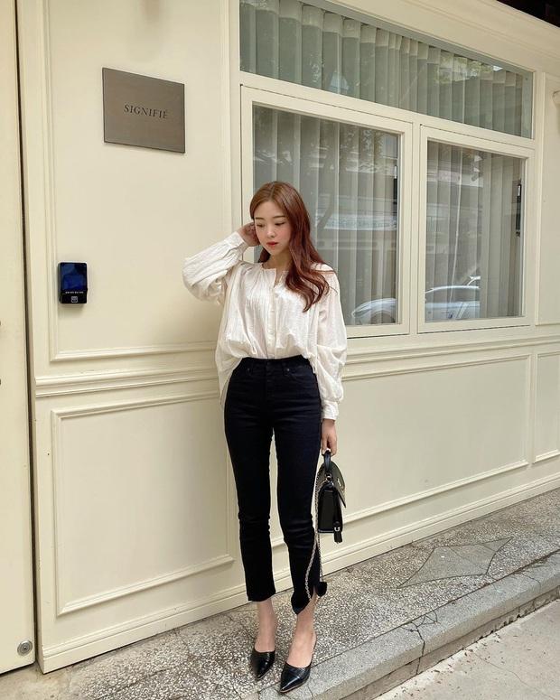 2 tuyệt chiêu sơ vin hack dáng cực phẩm của quý cô Hàn, biến chân ngắn thành dài như dùng app kéo chân - Ảnh 6.
