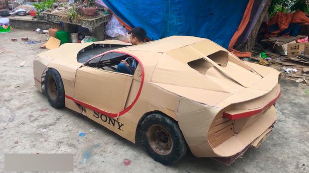 YouTuber Việt làm siêu xe Ferrari, Bugatti từ giấy chỉ với vài triệu đồng: Dân mạng quốc tế tha hồ khen nổ mũi - Ảnh 8.